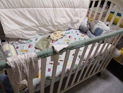 Babyone Baby Cot With Mattress