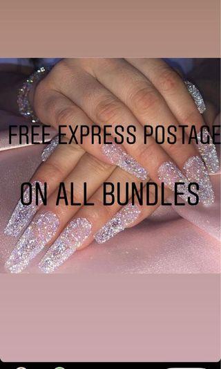 Free express postage on all bundles ✨
