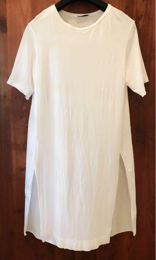 Zara Poplin White Dress