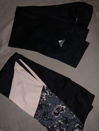 XS Adidas & cotton on leggings