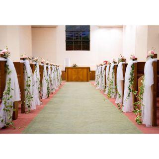 CHRISTIAN CHURCH PACKAGE /TRUE WAY PRESBYTERIAN CHURCH / HOTEL WEDDING FRESH FLOWERS VENUE DECOR / WEDDING TABLE CENTREPIECE