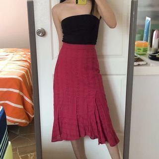 🚚 (PRICE REDUCED) TCL Amie Eyelet Midi Skirt