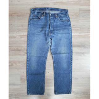 約34腰 Levi's 501 美國製 Vintage 古著 養褲自然色落 經典寬鬆 牛仔褲 老褲 工作褲
