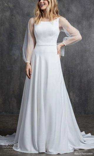 White wedding gown for tailoring