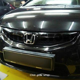 Civic grille wrap