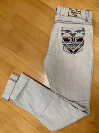 ROXY淺色長牛仔褲 (size XS 偏大)