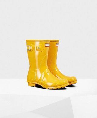 Hunter Boots 黃色雨靴/雨鞋