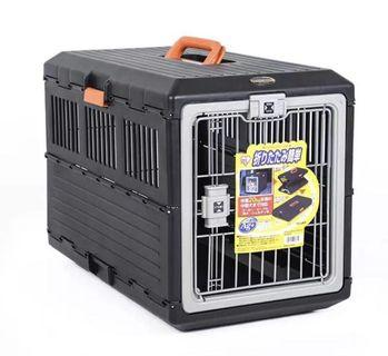 IRIS Japan collapsible foldable pet crate (with wheels)
