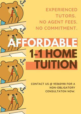 1-1 AFFORDABLE HOME TUITION