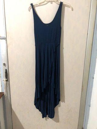 Asymetruc Navy dress
