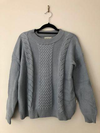 Blue Cable Knit