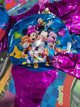 Assorted foil balloons