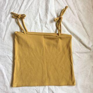 yellow tie-up top