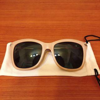 NET 粗框塑膠太陽眼鏡 - 粉藕色