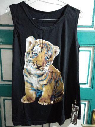 #HBDSale Kaos tanpa Lengan Baby Tiger Hitam