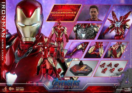 已截訂Hottoys Ironman Mark 85 Avengers系列 Endgame 最後Tony Stark版本 4月訂單