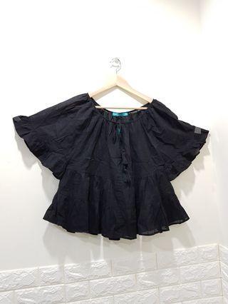 外貿尾單~超透氣黑色棉質娃娃衣(偏大碼)