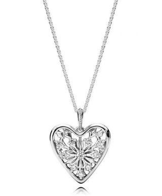 *Reduced Price* PANDORA Heart of Winter pendant Necklace