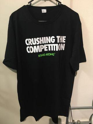 Crushing the competition King Kong t shirt (new)