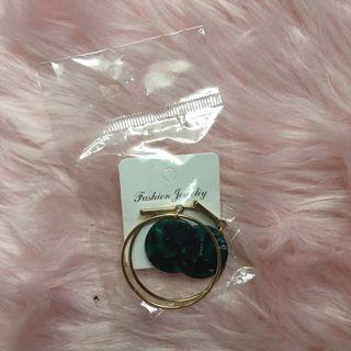 marble loop earrings