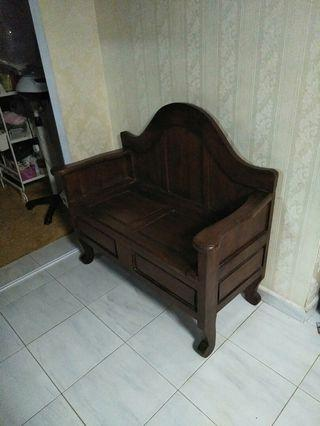 Teak wood bench 2 seater for sale