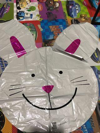 Rabbit Mylar balloon
