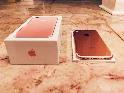 ALMOST BRAND NEW ROSE GOLD IPHONE 7 128GB
