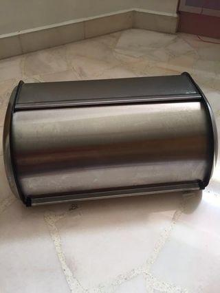 Reduced price Stainless steel roll top bread box