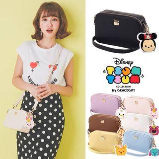 🔥人氣正版台灣大品牌Grace Gift x Disney  ✈台灣直送  可愛甜美 TsumTsum小方包