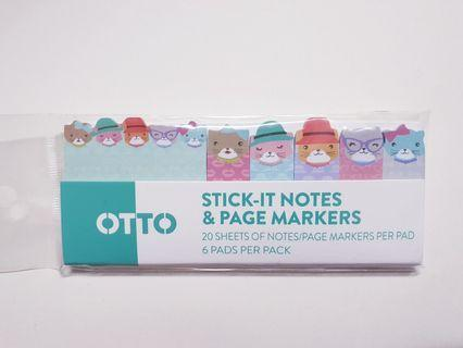 OTTO Sticky Notes Page Markers (20 sheets per pad)