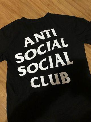 authentic anti-social social club t-shirt