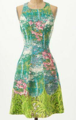 Anthropologie Tracy Reese Impressionist Revisited Dress