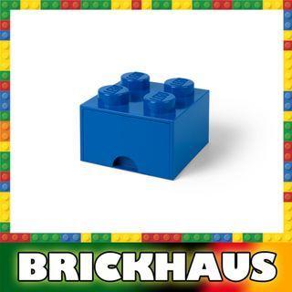 樂高 LEGO 4003L/4005 藍色 Blue 方形儲物箱連拉柜 Storage Brick Drawer 4