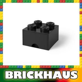 樂高 LEGO 4003L/4005 黑色 Black 方形儲物箱連拉柜 Storage Brick Drawer 4