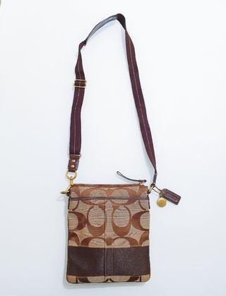 Reduced Price!!! Coach Signature Crossbody Bag / Sling Bag
