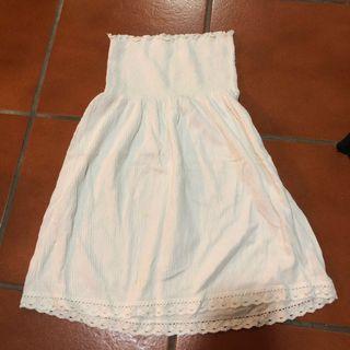 🚚 White Children's Tube Dress