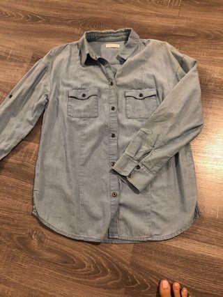 Kookai denim shirt size 34 (6)