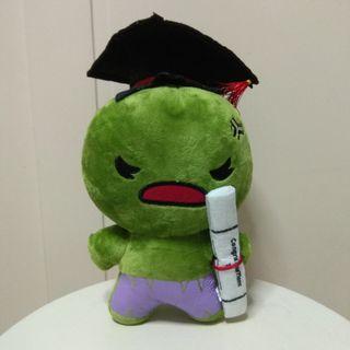[BRAND NEW] Hulk Graduation Plush