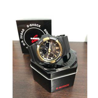 Casio G-Shock Big Case Tough Solar GAS-100 Black Resin Strap Watch GAS100G-1A GAS-100G-1A