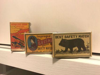 *全新日本製* 復古火柴盒 vintage match box 保存良好 精緻禮物 收藏