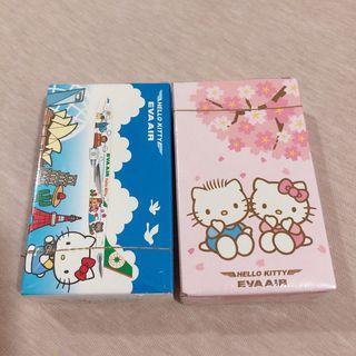 Hello kitty 長榮飛機 撲克牌 分開販售