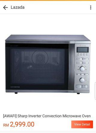 Sharp convection microwave oven model R-98A0(ST)VM
