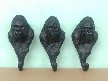 [ 黑猩猩 ] 陶瓷 掛牆鈎