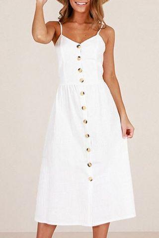 BNWOT Sleeveless Buttoned Midi / Maxi Dress