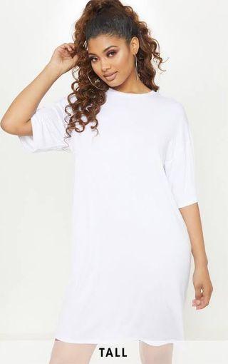 WHITE & NAVY loose dress