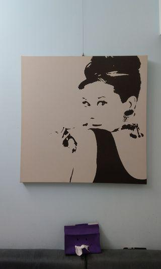 🚚 IKEA 奧黛麗赫本 無框畫