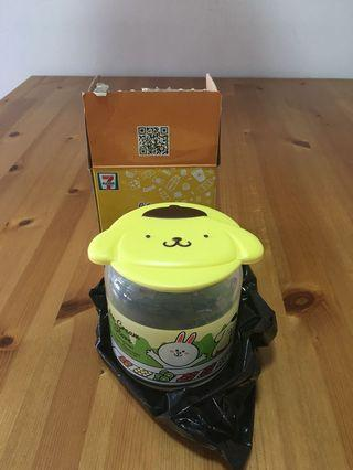 7-11 pompompurin Glass container