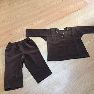Baju Melayu Baby-Dark Brown