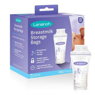 BNIB - 100 pcs Lansinoh Breastmilk Storage Bags