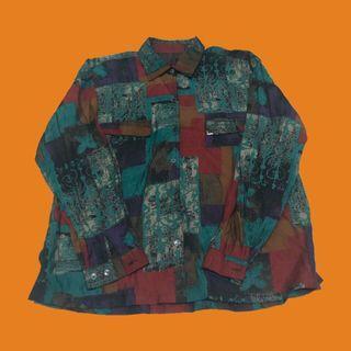 復古長袖襯衫